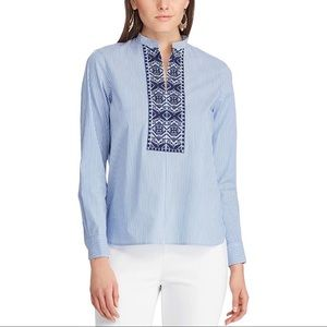 CHAPS | Chan Embroidered Stripe Tunic Top